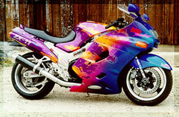 kawasaki zx11d 1993-01, fairing, fairings, tail, seat, front
